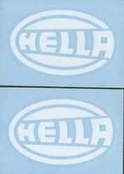 2x HELLA 4quot; White Decals Stickers for Jeep Truck Window Racing Off Road...