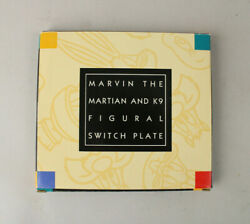 Rare Nos Mib 1995 Warner Bros Store Marvin The Martian And K9 Light Switch Plate