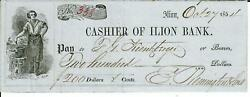 Remington Arms Samuel Remington Hand Signed Check Dated 1853 Todd Mueller Coa