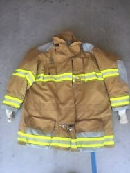 Firefighter Globe Turnout Bunker Coat 58x40 G-xtreme No Cut Out 2007