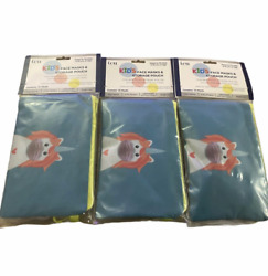 3 packs ICU Kid#x27;s Masks amp; Storage Pouch Unicorn for 4 10yrs of Age. 30 Count $6.88