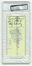 Rare Bank Check Signed And Endorsed By Lyndon B. Johnson - Inside Psa/dna Holder