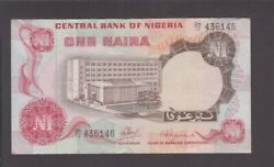 Nigeria P.15a-6146 1 Naira Sig 1 Pfx Dh/12 Very Fine Low Shipping