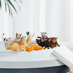 10/set Pvc Cat Figures Animal Figurines Cake Toppers Collectibles Gifts