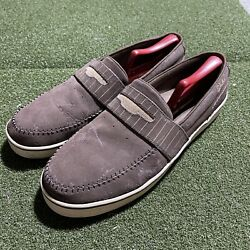 Globe The Don Shoes Mens 13 Brown Slip On Casual Shoes Logo