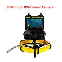 9 Inch 164ft Drain Pipeline Endoscope System φ23mm Ip68 Sewer Camera Video 16gb