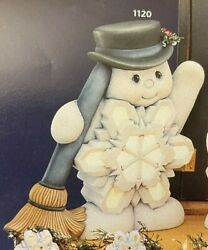 Vintage Clay Magic Ceramic Mold J-1120 Large Snowflake Belly Snowman 13t