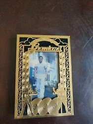 Elvis Presley Picture With Gold Metal Frame