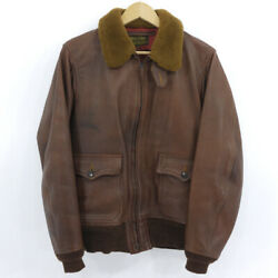 Secondhand Freewheelers Free Wheelers Leather Jacket M-422 Brown Size 40 F093