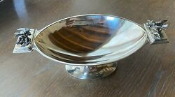 Rare Gorham Sterling Silver Footed Compote With 3-d Birds Aesthetic Movement