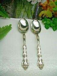 International Silver Interlude Silverplate 8 1/2 Solid Serving Spoons 1971