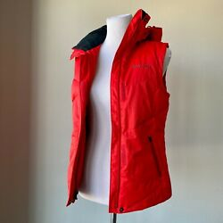Columbia Women's Red Outdoor Omni-heat Quilted Down Hooded Puffer Vest Small