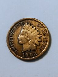 1902 Indian Head One Cent Penny Circulated