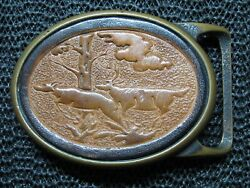 Tech Ether X Colonial Leather Deer Leather Brass Hippie Buckle Vintage Rare