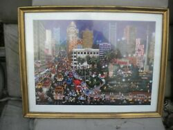 Alexander Chen San Francisco Litho Hand Sign With Papers