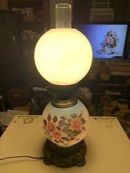 """Vintage 1972 Ef And Ef Industries Gone With The Wind Lamp-floral Pattern-23x8"""""""