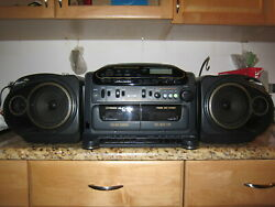 Vintage Fisher Ph-d8800 Boombox Stereo/cd/ Dual Cassette/radio 1992 As Is