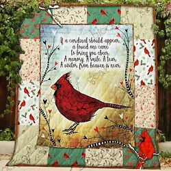 A Visitor From Heaven Is Near Cardinal Red Bird Blanket Best Gift For Friends