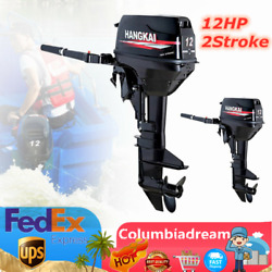 2 Stroke 12hp Fishing Boat Engine Outboard Motor With Cdi Water Cooling System