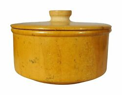 Indian Creation Golden Stone From Jaisalmer Bowl With Lid, 300 Ml, Gold