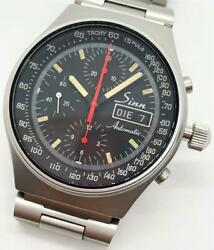 Sinn Chronograph Automatic Day-date Stainless Steel Black Dial Menand039s 41mm W/ Box