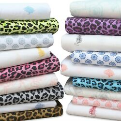 100% Cotton Deep Fitted Flat Bed Sheet Twin XL FullKing amp; Pillowcases TC 144