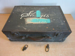 Antique Wooden Metal Banded Case Trunk Sturgis Motorcycle Tool Box