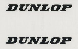 2x DUNLOP Tires 6quot; Black Decals Stickers for Cars Trucks Motorcycles...