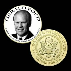 U.s. President Series 38th Gerald Ford | Gold Plated Challenge Coin