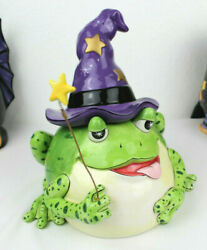 Fitz And Floyd Spell Bound Wizard Frog Cookie Jar