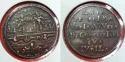 Augsburg 1730 Aunc Silver 1 Ducat Pattern Coin City View Germany Very Rare