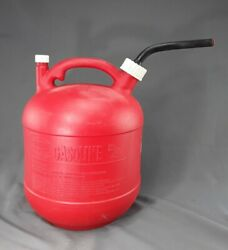 Eagle Pg-3 2.5 Gallon Plastic Gas Can With Fine Screen/ Vented / Rubber Spout