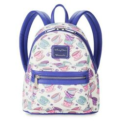 Disney Parks Loungefly Alice In Wonderland Mad Tea Party Tea Cups Mini Backpack