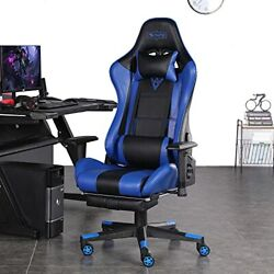 Smax Gaming Chair With Footrest Racing Office Computer Ergonomic Video Game