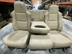 2008-2010 Ford F250 F350 Tan Leather Complete Seat Set W Jump Seat Power