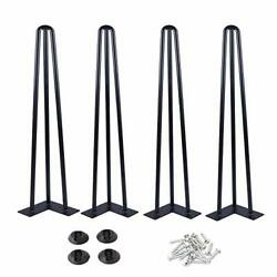 """Osring 22 Inch Hairpin Table Legs With 1/2"""" Dia 3-rods Metal Furniture Legs F..."""