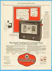1926 Wheeling Corrugating Co Wv Antique 1920's Stove Top Oven Pans Oil Cans Ad