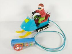 Bandai Battery Operated Remote Control Snow Mobile Toy For Parts Or Repair