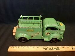 1940s Lincoln Toys Telephone Service Truck Pressed Steel Toy