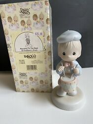 Nib 1995 Precious Moments Figurine Marching To Freedom's Drum 159281 New Gift