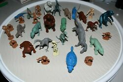 60and039s-70and039s Marx Toys Lot Of 30 Dinosaurs And Cavemen Figures Vintage Rare 2