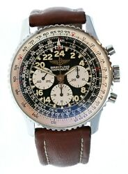 Breitling Stainless Steel Cosmonaute A12022 Manual Winding Watch