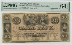 1850s 20 Louisiana New Orleans Canal And Banking Co Pmg Ch64 Epq