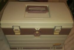 Plano 757 Series Cgest Style Fishing Tackle Box Vintage Circa Early 90's