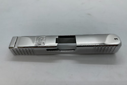 Glock 19 Slide In Chrome Custom Made - Gen 3 - Engraved Eagle - Cut Out - New