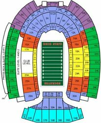 2 Ohio State Buckeyes Football Tix - All 6 Remaining 2021 Home Games