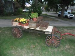 Vintage Farm/ Ranch Wood Wagon - Small Pony Size - Pick Up Only-dearborn Mich.