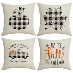 Fall Throw Pillow Covers Thanksgiving Decor for Home Autumn Pillow Covers