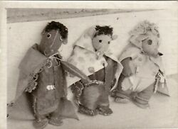 1950s Mouse Rag Dolls Hand Made Folk Primitive Toys Weird Odd Old Russian Photo