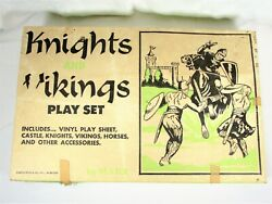 Vintage Louis Marx Castle Playset Vikings And Knights - 4743 – 75 Figures W/ Box
